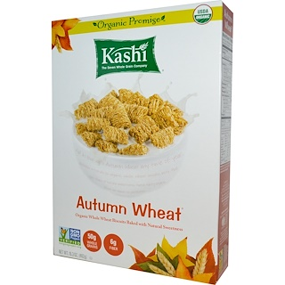 Kashi, Autumn Wheat, Organic Whole Wheat Biscuit Cereal, 16.3 oz (462 g)