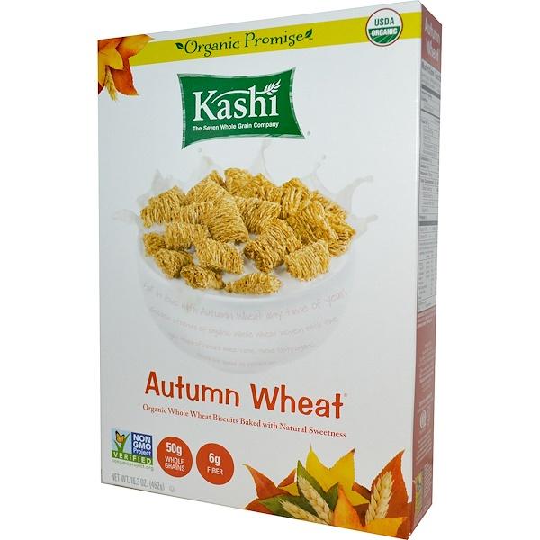 Kashi, 秋麥,有機全麥穀物餅乾,16、3盎司(462克)