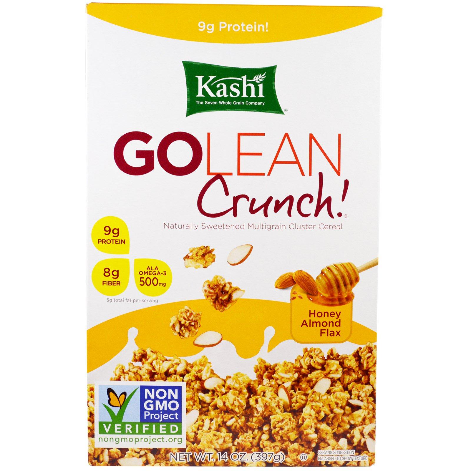 Kashi, GoLean Crunch! мед, миндаль, лен, 14 унций (397 г)