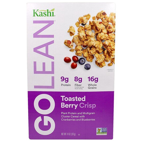 Kashi, GoLean, Toasted Berry Crisp Cereal, 14 oz (397 g)