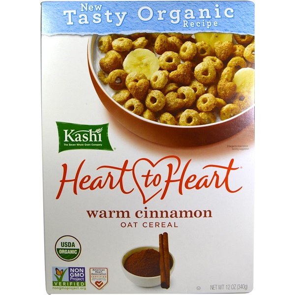 Kashi, Heart to Heart, Warm Cinnamon Oat Cereal, 12 oz (340 g)