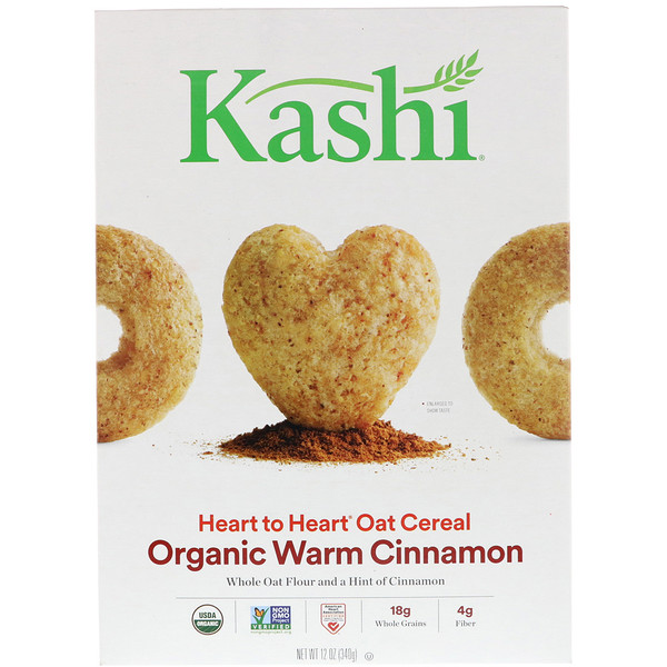 Kashi, Heart to Heart Oat Cereal, Organic Warm Cinnamon, 12 oz (340 g) (Discontinued Item)