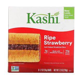 Kashi, Soft-Baked Cereal Bars, Ripe Strawberry, 6 Bars, 1.2 oz (35 g) Each