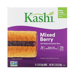 Kashi, Soft Baked Breakfast Bars, Mixed Berry, 6 Bars, 1.2 oz (35 g) Each
