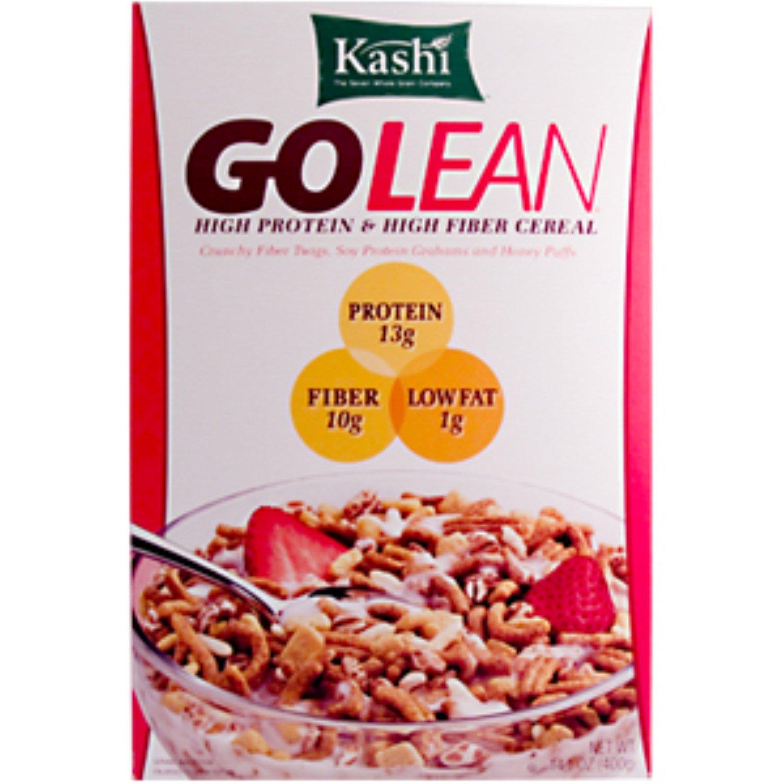 Kashi, GoLean, High Protein & High Fiber Cereal, 14.1 Oz