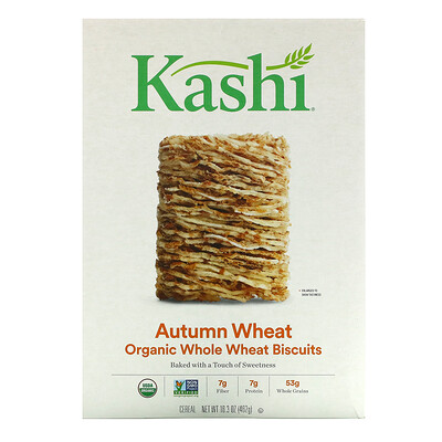 Купить Kashi Whole Wheat Biscuits, Organic Autumn Wheat, 16.3 oz ( 462 g)