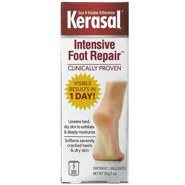 Intensive Foot Repair, мазь для интенсивного восстановления кожи стоп, 30г (1унция)