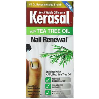 Kerasal, Nail Renewal Plus Tea Tree Oil, 0.33 fl oz (10 ml)