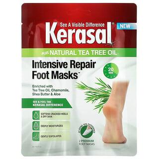 Kerasal, Intensive Repair Foot Masks Plus Natural Tea Tree Oil, 2 Foot Masks