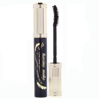Купить KissMe Heroine Make, тушь для удлинения и подкручивания ресниц, суперстойкая, оттенок01 насыщенный черный, 6г (0, 21унции)