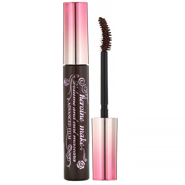 KissMe, Heroine Make, Volume & Curl Mascara, Advanced Film, #02 Brown, 0.21 oz (6 g)
