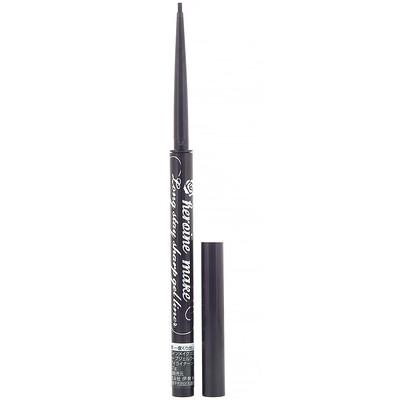 Купить KissMe Heroine Make, жидкая водостойкая гелевая подводка для глаз, оттенок01 насыщенный черный, 0, 07г (0, 002унции)