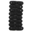 Kitsch, Hair Coils, Black, 8 Pieces