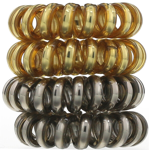 Hair Coils, Metallic, 4 Pieces