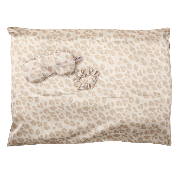 Kitsch, Satin Sleep Set, Leopard, 3 Piece Set