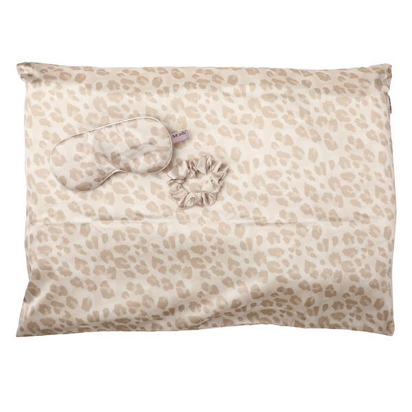 Kitsch, Set de satén para dormir, Leopardo, Set de 3piezas