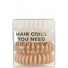 Kitsch, Hair Coils, Nude, 4 Pieces
