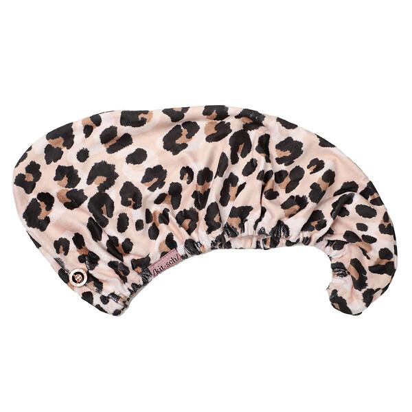 Quick Drying, Microfiber Hair Towel, Leopard, 1 Piece