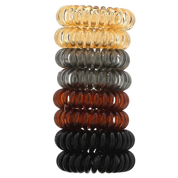 Kitsch, 髮圈,深褐色,8 件裝