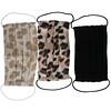 Kitsch, 100% Cotton Reuseable Face Masks, Leopard, 3 Pack