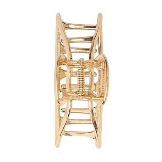Kitsch, Open Shape Claw Clip, Gold, 1 Piece