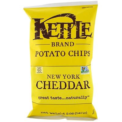 Картофельные чипсы, New York Cheddar, 5 унций (142 г) maxi chips чипсы картофельные со вкусом курицы 100 г