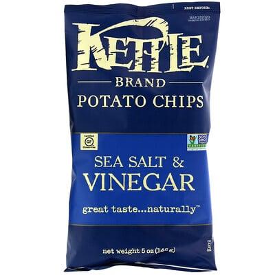 Kettle Foods Картофельные чипсы, морская соль и уксус, 142 г (5 унций)