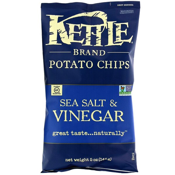 Potato Chips, Sea Salt & Vinegar, 142 g (5 oz)