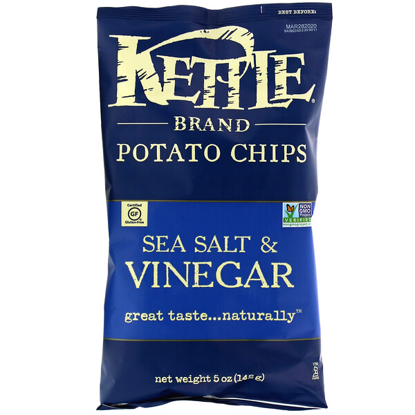 Potato Chips, Sea Salt & Vinegar, 5 oz (142 g)