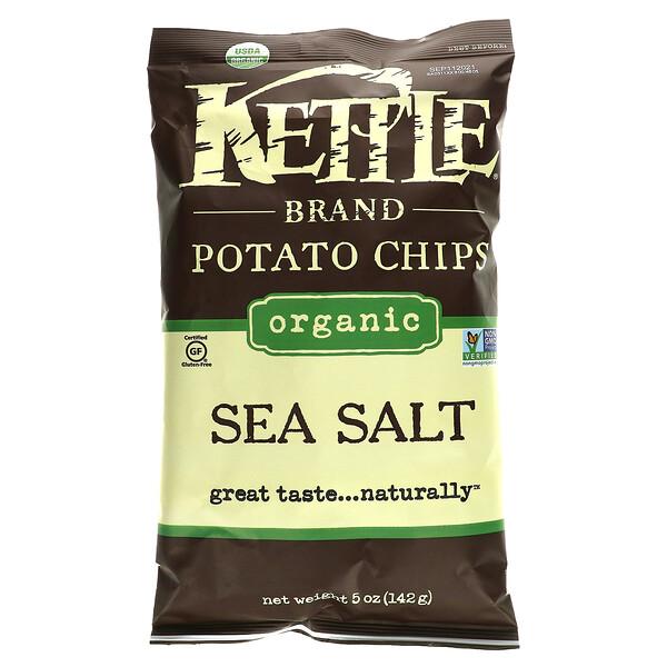 Kettle Foods, Organic Potato Chips, Sea Salt, 5 oz (142 g)