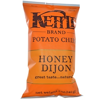 Kettle Foods, Potato Chips, Honey Dijon, 5 oz (142 g)