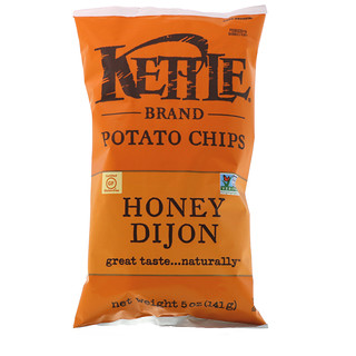 Kettle Foods, Potato Chips, Honey Dijon, 5 oz (141 g)
