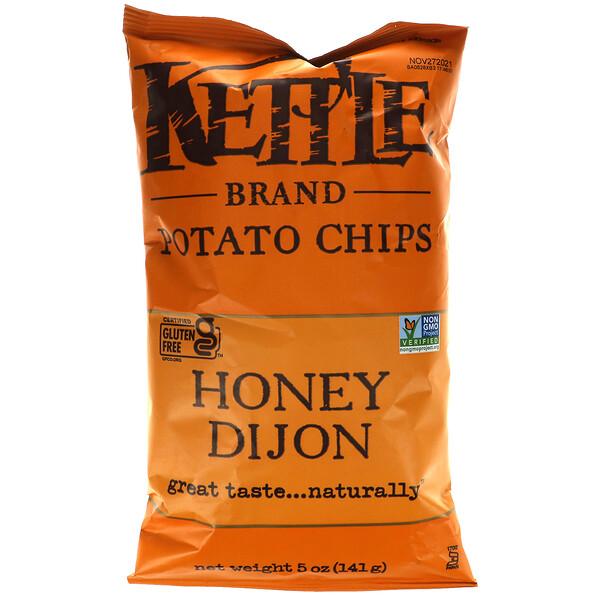 Kettle Foods, Potato Chips, Honey Dijon, 5 oz (141 g)
