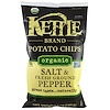 Kettle Foods, Organic Potato Chips, Salt and Fresh Ground Pepper, 5 oz (142 g)