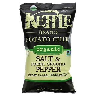 Kettle Foods, 有機薯片,鹽和新鮮研磨胡椒,5盎司(142克)