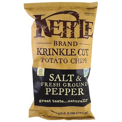Kettle Foods Картофельные чипсы, соль и свежий молотый перец, 142 г (5 унций)