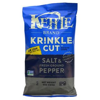 Kettle Foods, 薯片,鹽和新鮮胡椒粉,5 盎司(141 克)