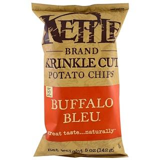Kettle Foods, ポテトチップス、バッファローブルー、5 oz (142 g)