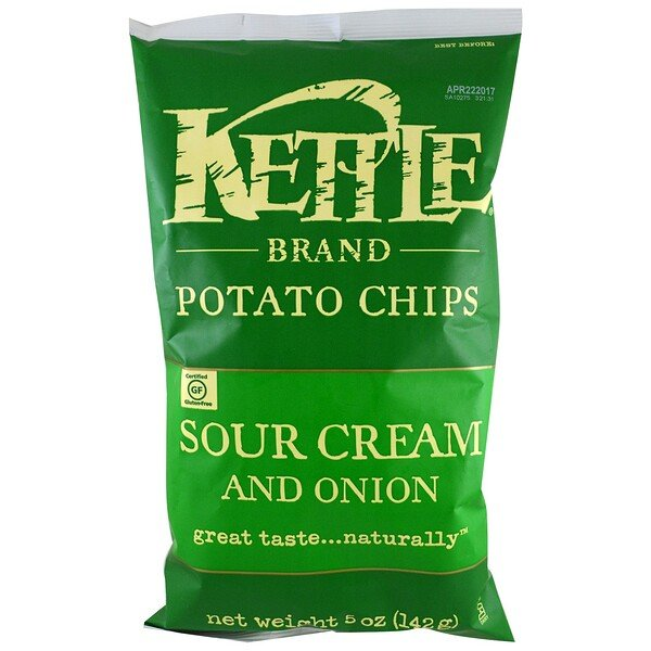 Potato Chips, Sour Cream and Onion, 5 oz (142 g)