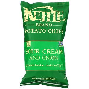 Кэттл фудс, Potato Chips, Sour Cream and Onion, 5 oz (142 g) отзывы покупателей