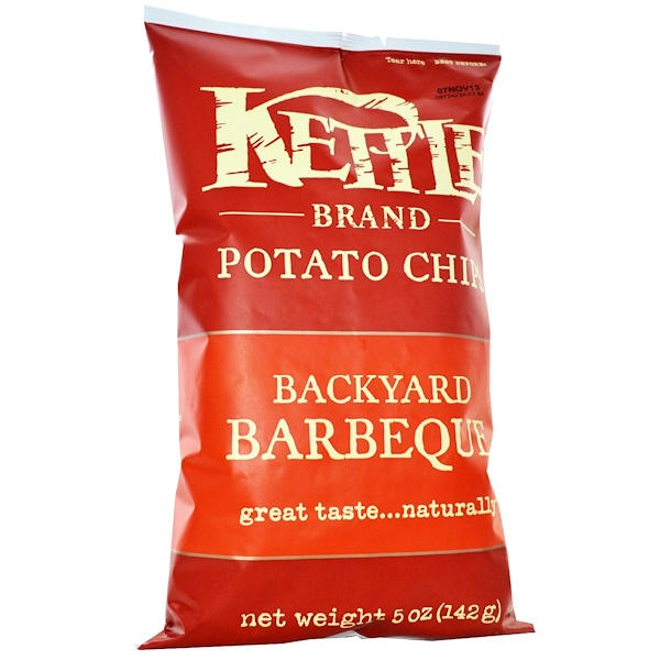 Kettle Foods, Potato Chips, Backyard Barbeque, 5 oz (142 g)