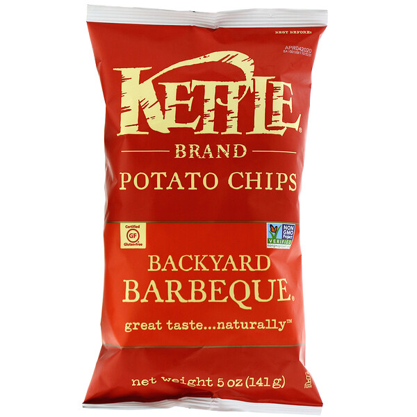 Kettle Foods, Potato Chips, Backyard Barbeque, 5 oz (141 g)