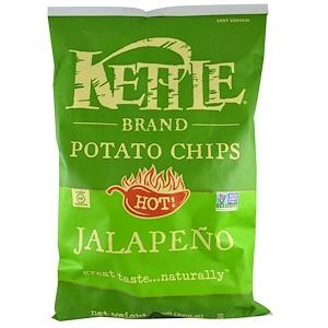 Кэттл фудс, Potato Chips, Hot! Jalapeno, 13 oz (369 g) отзывы покупателей