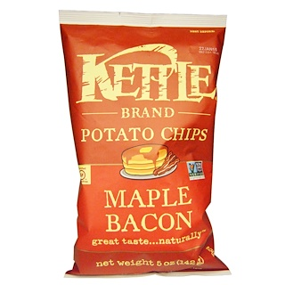 Kettle Foods, Potato Chips, Maple Bacon, 5 oz (142 g)