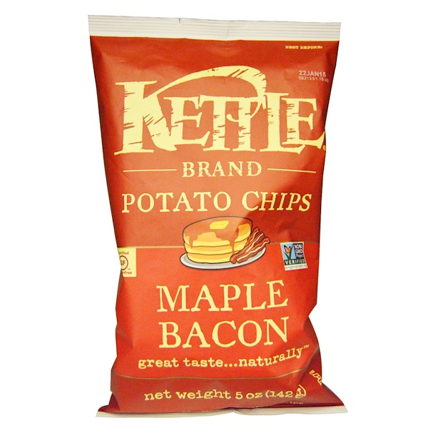 Kettle Foods, Potato Chips, Maple Bacon, 5 oz (142 g)  (Discontinued Item)