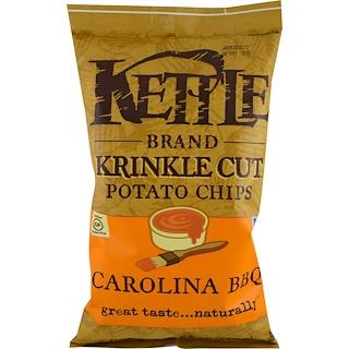Kettle Foods, قطع رقائق البطاطس كرينكل، باربيكيو كارولينا، 5 أونصات (142 غرام)