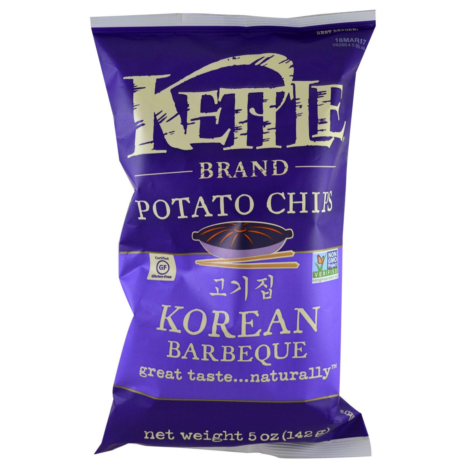 Kettle Foods, Potato Chips, Korean Barbeque, 5 oz (142 g)