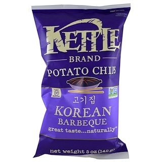 Kettle Foods, Potato Chips, Korean Barbeque, 5 oz (142 g)