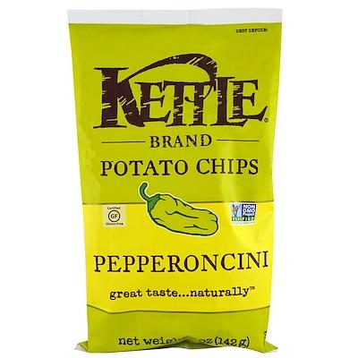 Kettle Foods Картофельные чипсы, пепперонцини, 5 унций (142 г)