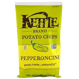 Kettle Foods, ポテトチップス、ペッパロンチーニ、5 oz (142 g)